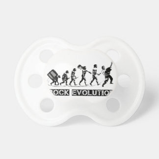 Rock Evolution funny design Pacifier