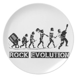 Rock Evolution funny design Party Plates