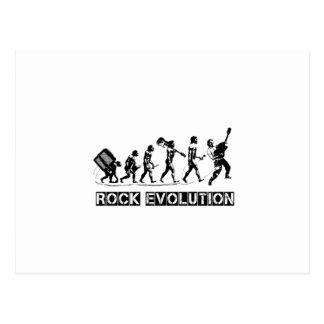 Rock Evolution funny design Postcard
