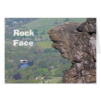 Rock Face card