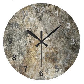 Rock Face Large Clock