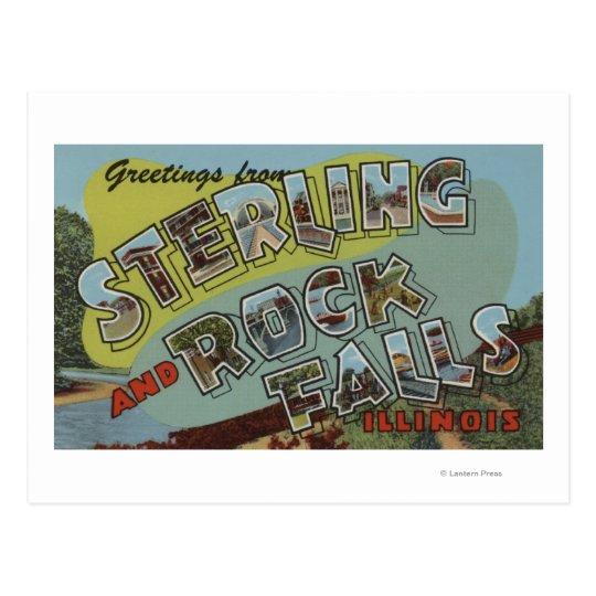 Rock Falls - Large Letter Scenes Postcard