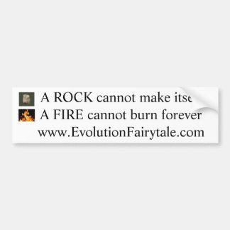 Rock & Fire w/Website Bumper Sticker