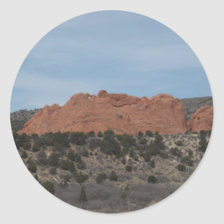 Rock formation round sticker