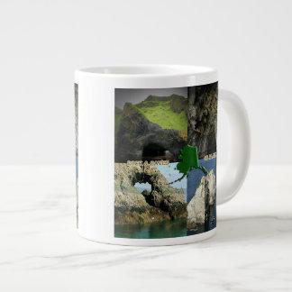 Rock Formations and Caves in Alaska Collage Jumbo Mug
