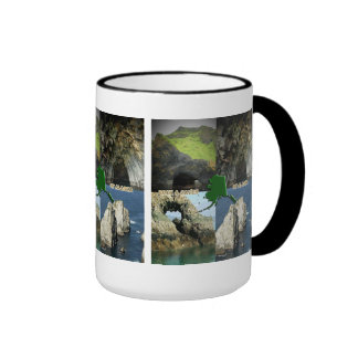Rock Formations and Caves in Alaska Collage Ringer Mug