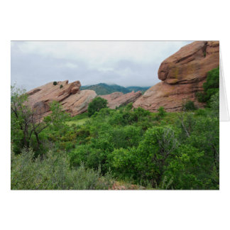 Rock Formations and Ranges Surrounding Red Rocks Card