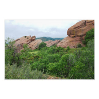 Rock Formations and Ranges Surrounding Red Rocks Photo Print