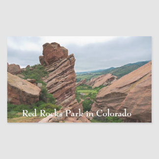 Rock Formations and Ranges Surrounding Red Rocks Sticker