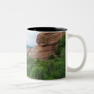 Rock Formations and Ranges Surrounding Red Rocks Two-Tone Coffee Mug