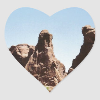 Rock Formations in Utah Heart Sticker