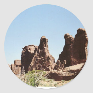 Rock Formations in Utah Round Sticker