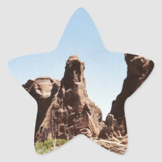 Rock Formations in Utah Star Sticker