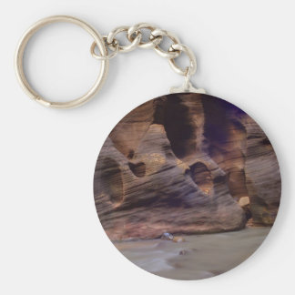Rock Formations In Zion Narrows Keychain