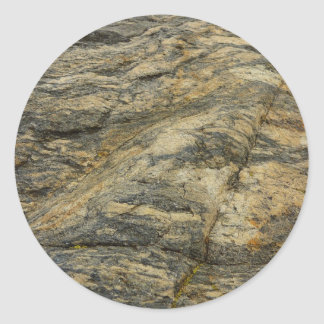 Rock from Joshua Tree Brown Grey Natural Abstract Round Sticker