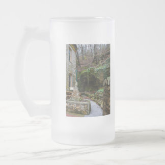 Rock Garden Patio Frosted Glass Beer Mug