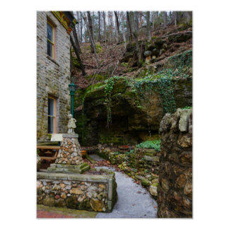 Rock Garden Patio Poster