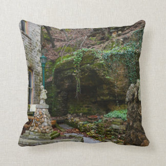 Rock Garden Patio Throw Pillow