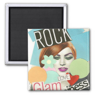 Rock Glam Love & Happiness Magnet