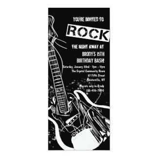 Rock Guitar Black Invitation
