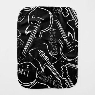 Rock guitar burp cloth