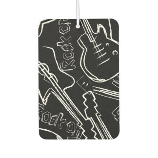 Rock guitar car air freshener