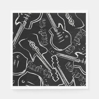 Rock guitar disposable napkins