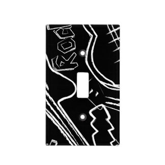 Rock guitar light switch cover