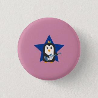 Rock Guitar Penguin 1 Inch Round Button