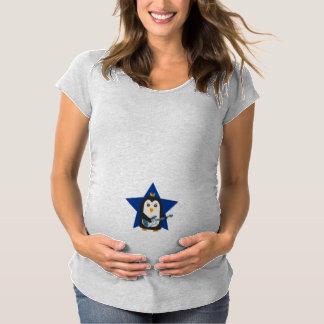 Rock Guitar Penguin Maternity T-Shirt