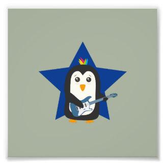 Rock Guitar Penguin Photo