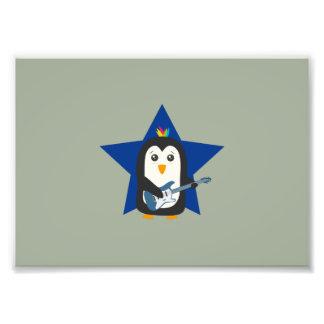 Rock Guitar Penguin Photo Print