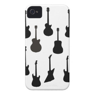 Rock Guitar Silhouettes iPhone 4 Case