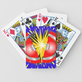 Rock Guitar Speaker Explosion Bicycle Playing Cards