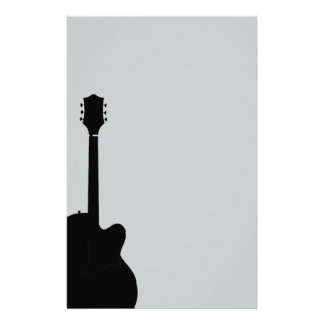 rock guitar vector personalized stationery