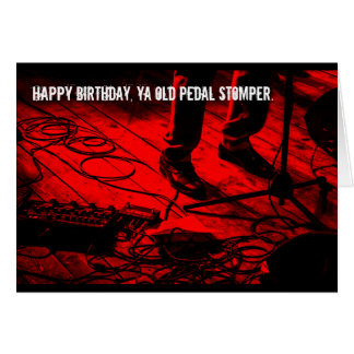 Rock Guitarist Effects Pedals Birthday Card
