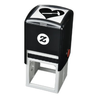 Rock Hammer and Heart Self-inking Stamp