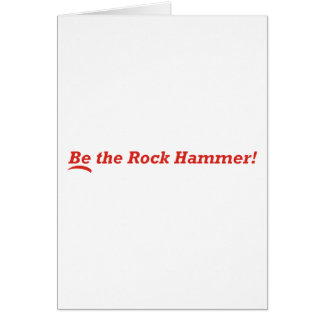 Rock Hammer Card