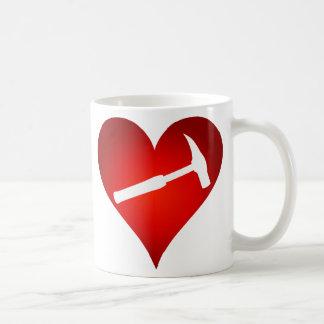Rock Hammer Heart (Left-Handed) Coffee Mug