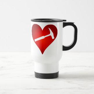 Rock Hammer Heart (Left-Handed) Travel Mug