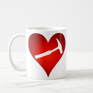 Rock Hammer Heart (Right-Handed) Coffee Mug