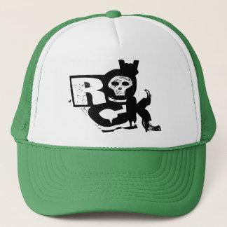 Rock Hand Skull Trucker Trucker Hat