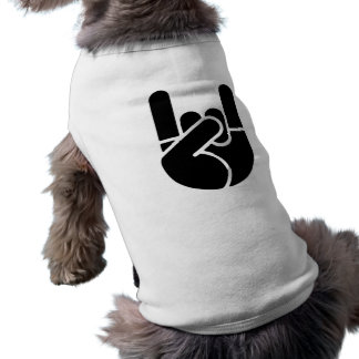 Rock Hand Stencil Pet Clothing