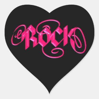Rock Heart Sticker