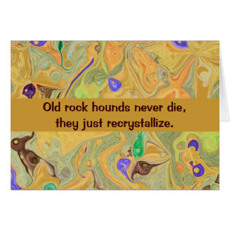 rock hound humor card
