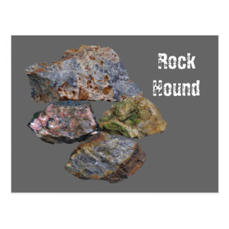 Rock Hound Mineral Collectors Funny Postcard