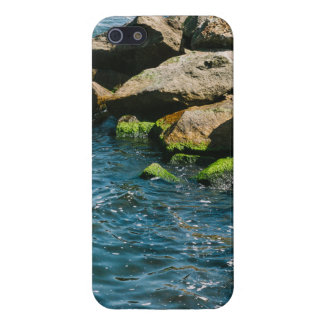 Rock In A Blue Sea Landscape Photography iPhone 5/5S Covers