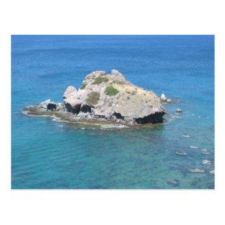 Rock in the mediterranean postcard