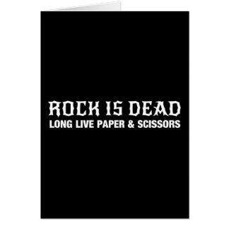Rock Is Dead...Long Live Paper & Scissors Card