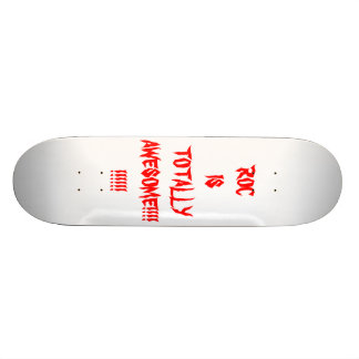 ROCK IS TOTALLY AWESOME CUSTOM SKATE BOARD
